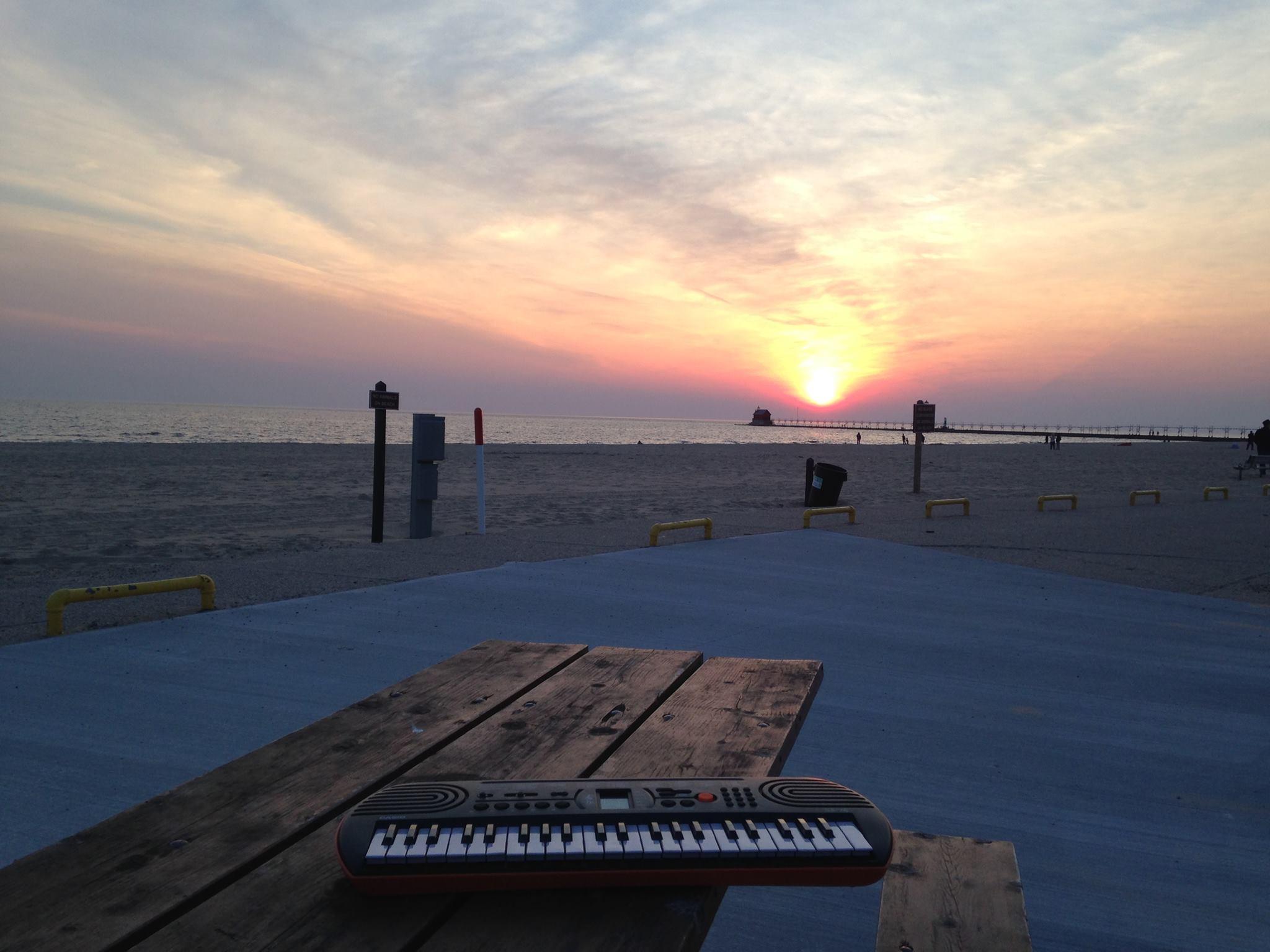 sunset keyboard